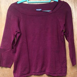 SALE Ann Taylor maroon blouse